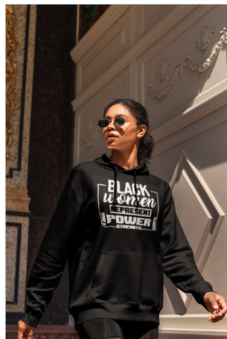 Black Women Represent Ladies Hoodie