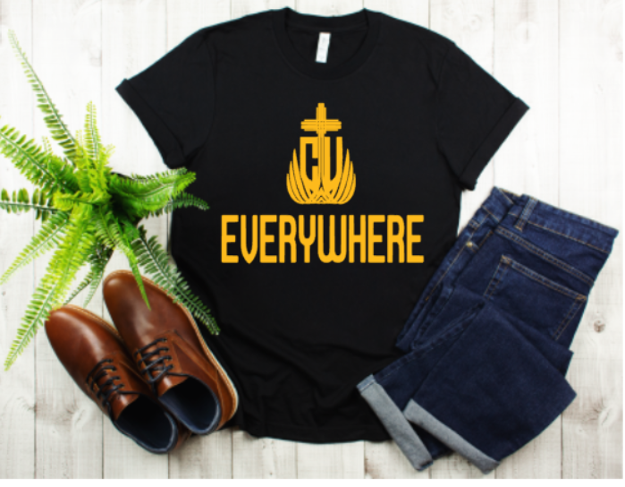 CV Everywhere Gold Logo Men's Tee