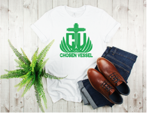 CV Logo (Green) Men's Tee