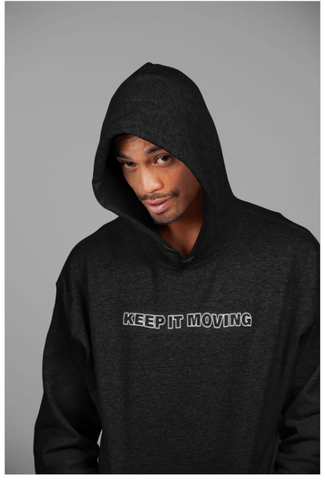Keep It Moving Men/Ladies' Hoodie on Black