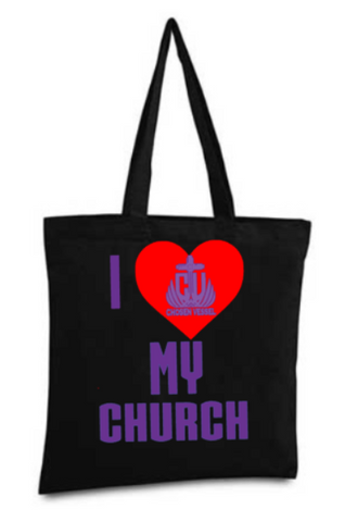 CV Love My Church Logo Tote