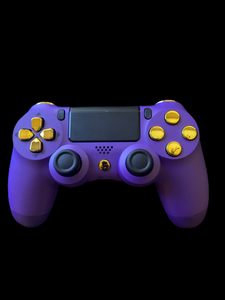 (New) PS4 Purple Controller with Custom gold Buttons