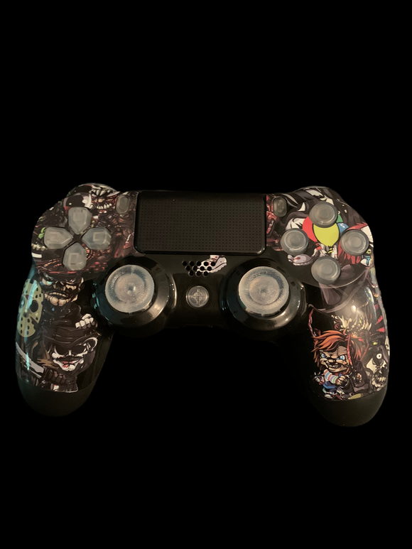 (New) Custom Ps4 Controller with clear plastic custom buttons   (Sales price as listed)