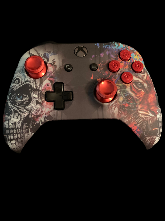 (New) Xbox one Controller with a skull and tiger theme    (Sales price as listed)