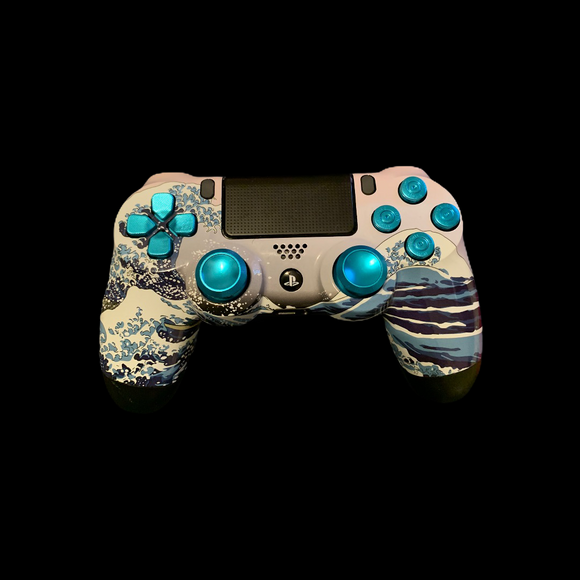 (New) PS4 Controller with a Ocean Theme
