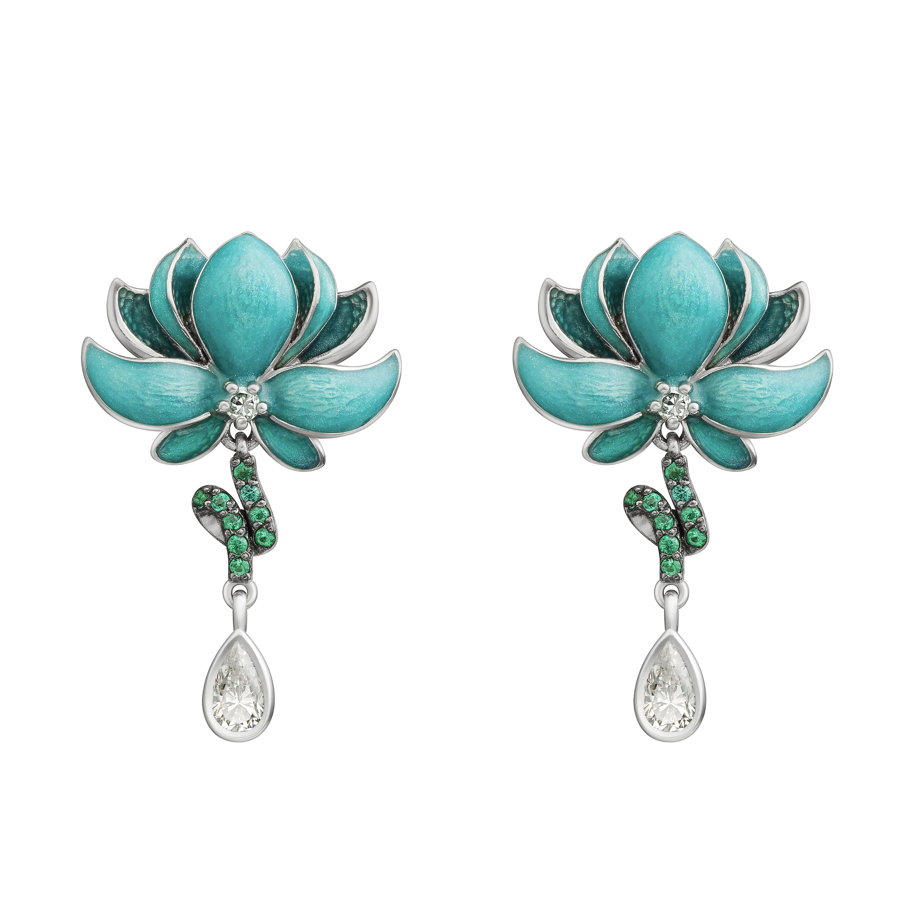 Small Lotus Earrings