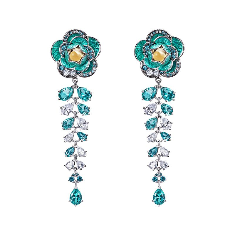 Flower Cascade Earrings