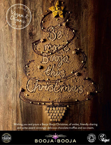 Our Christmas tree advertisement launches Vegan Food & Living magazine campaign