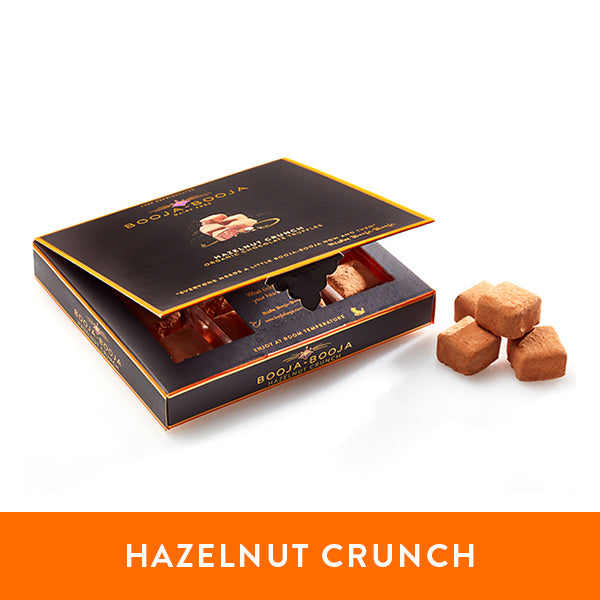 Booja-BoojaHazelnut Crunch chocolate truffles in the chilled twelve-pack format