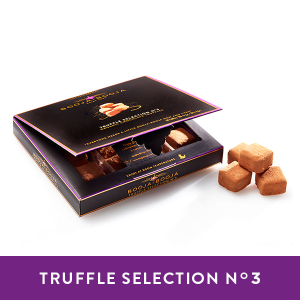 Booja-Booja Truffle Selection No.3, aselection of chocolate truffles in the chilled twelve-pack format