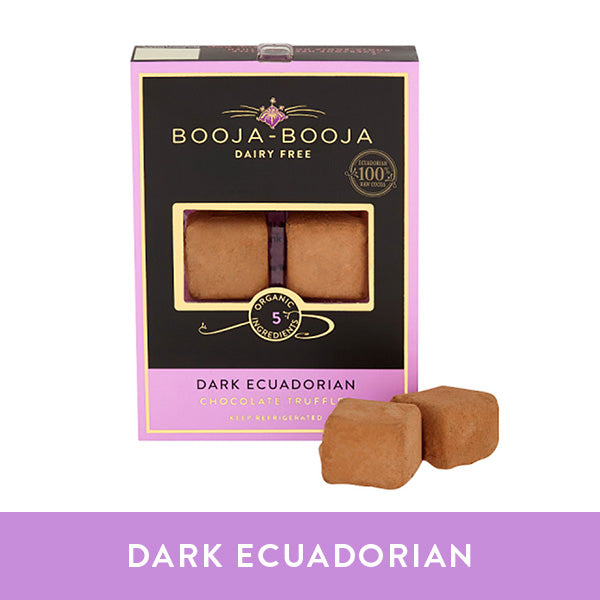 Booja-Booja dark ecuadorian chocolate truffles in the chilled six-pack format