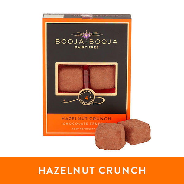 Booja-Booja hazelnut crunch chocolate truffles in the chilled six-pack format
