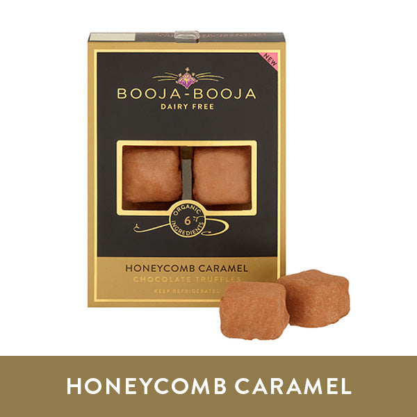 Booja-Booja honeycomb caramel chocolate truffles in the chilled six-pack format