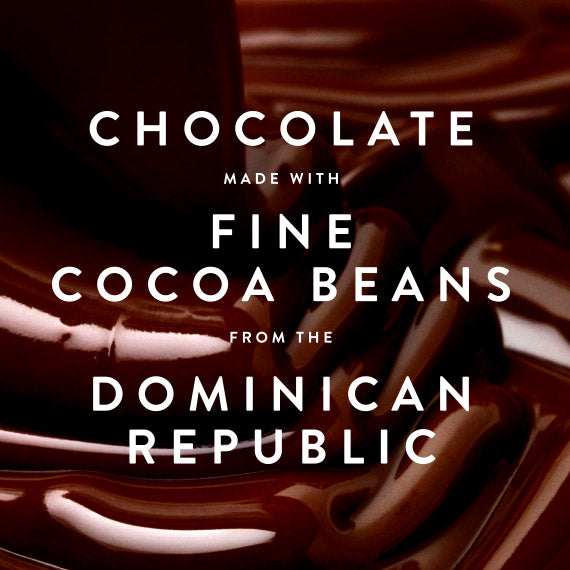Chocolate made with fine cocoa beans from the Dominican Republic is a key ingredient in Booja-Booja almond salted caramel chocolate truffles. Vegan, organic and dairy-free.