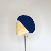 Royal blue wool beret