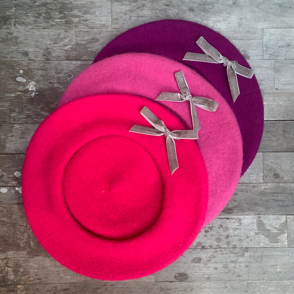 Small Eyelet Beret - Pinks