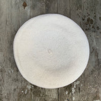 Ivory colour wool beret