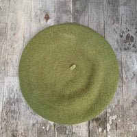 Lichen colour wool beret
