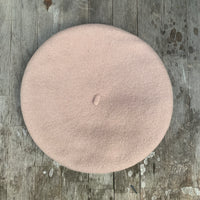 Oatmeal colour wool beret