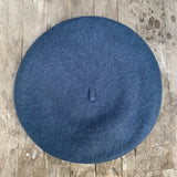Petrol colour wool beret