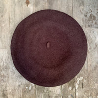 Truffle colour wool beret