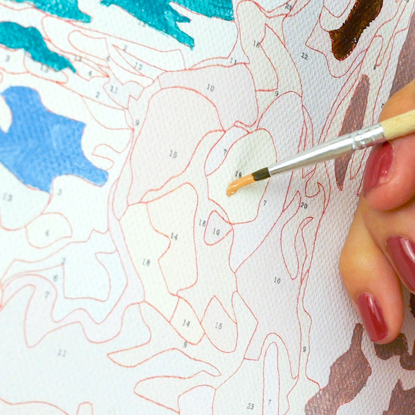 How to paint a personalized paint by numbers canvas