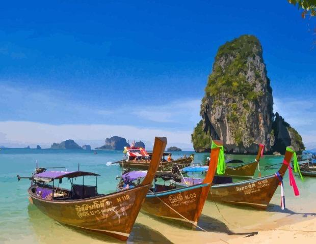 Phi Phi Island - Paint by Numbers HD