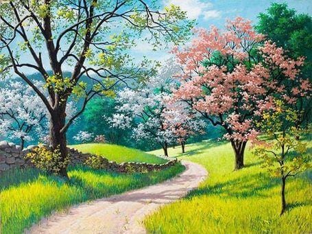 Summer Blossoms - Paint by Numbers Classic