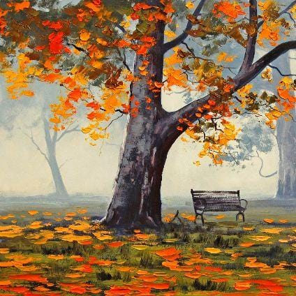 Meditation at Fall - Paint by Numbers Classic