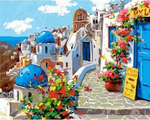 Santorini - Paint by Numbers Classic