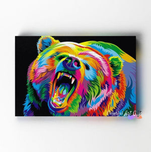 Neon Bear - Paint by Numbers Classic