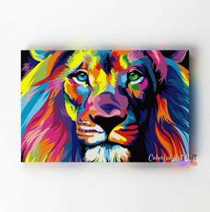 Neon Lion - Paint by Numbers Classic