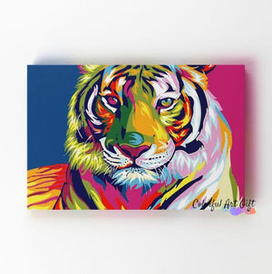 Neon Tiger - Paint by Numbers Classic
