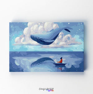 Flying Whale - Paint by Numbers Classic
