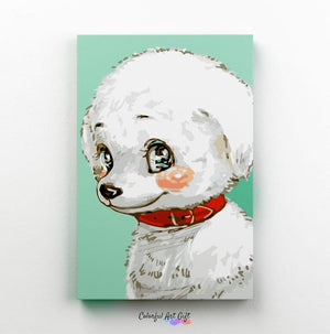 White Puppy - Paint by Numbers Classic