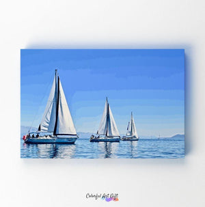 Sailboats - Paint by Numbers HD