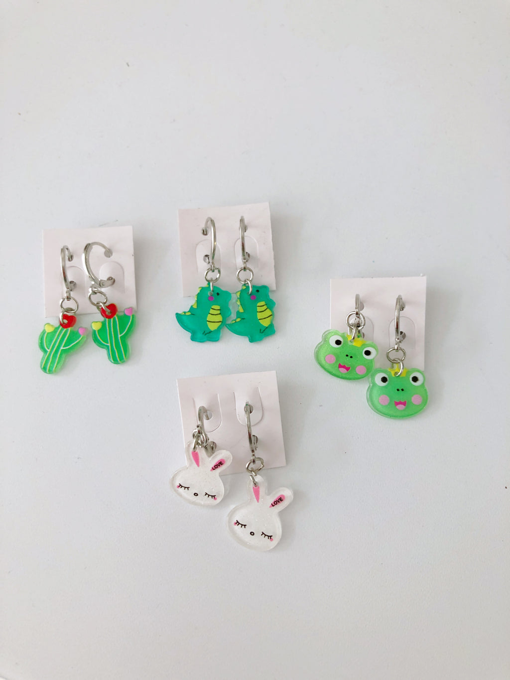 Sparkles & Cupcakes Animal Hoop Earrings