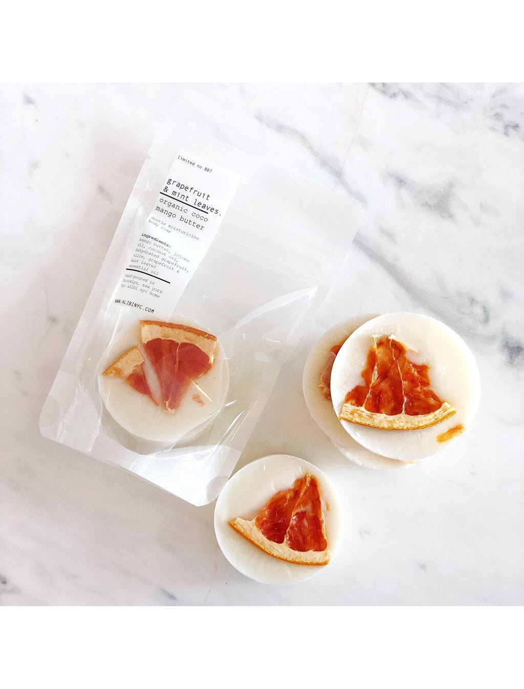 Alibi NYC Organic Grapefruit & Mango Soap