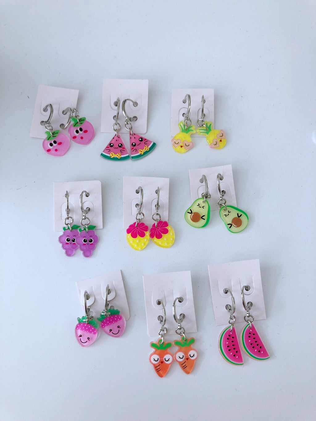Sparkles & Cupcakes Fruit Hoop Earrings