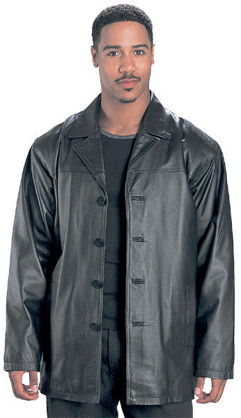3/4 Length Leather Jacket