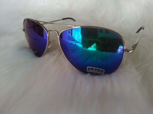Aviator Blue Purple Mirror
