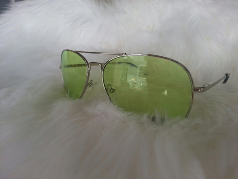 Aviator Green Lenses