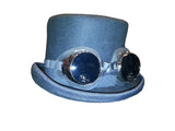 Black Steam Punk Top Hat w/Goggles