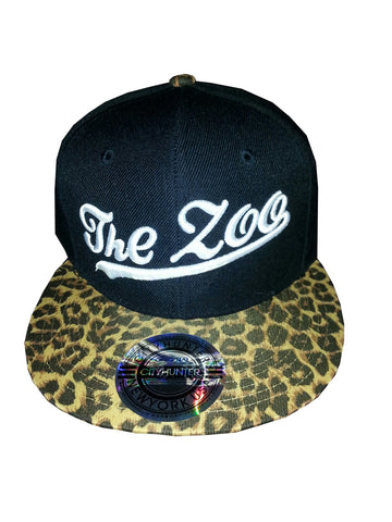 Snapback Black with Leopard