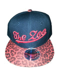 Snapback Black with Red Leopard