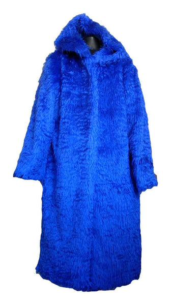Fur-Electric Blue Pimp Coat