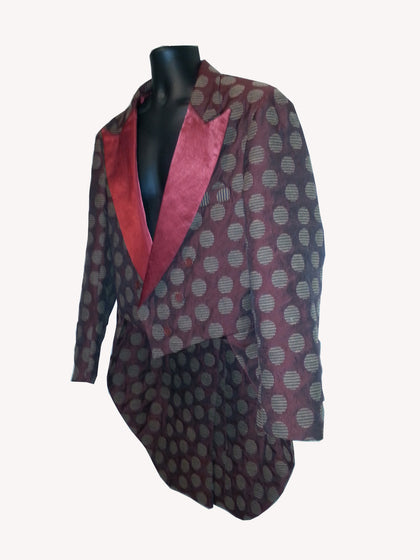 Burgundy Retro Tux with Tails