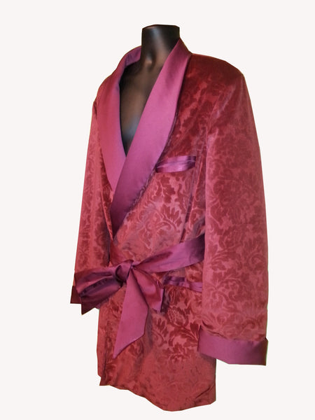 Burgundy Burnout Velvet Hef