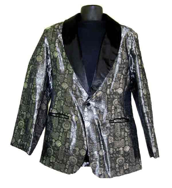 Casino-Silver Smoking Jacket