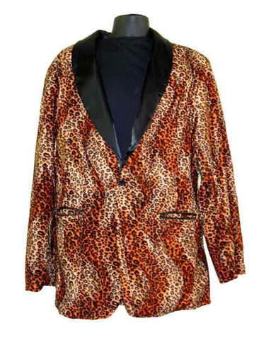 Cheetah-Orange Smoking Jacket